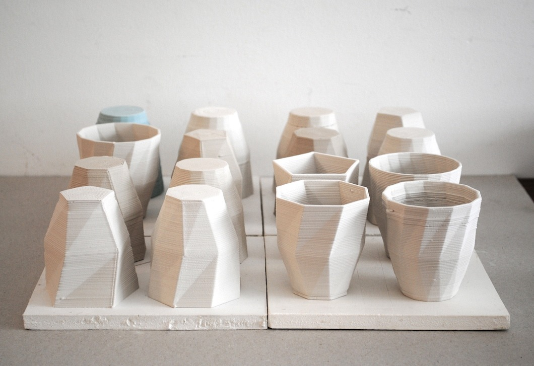 Cups waiting for firing