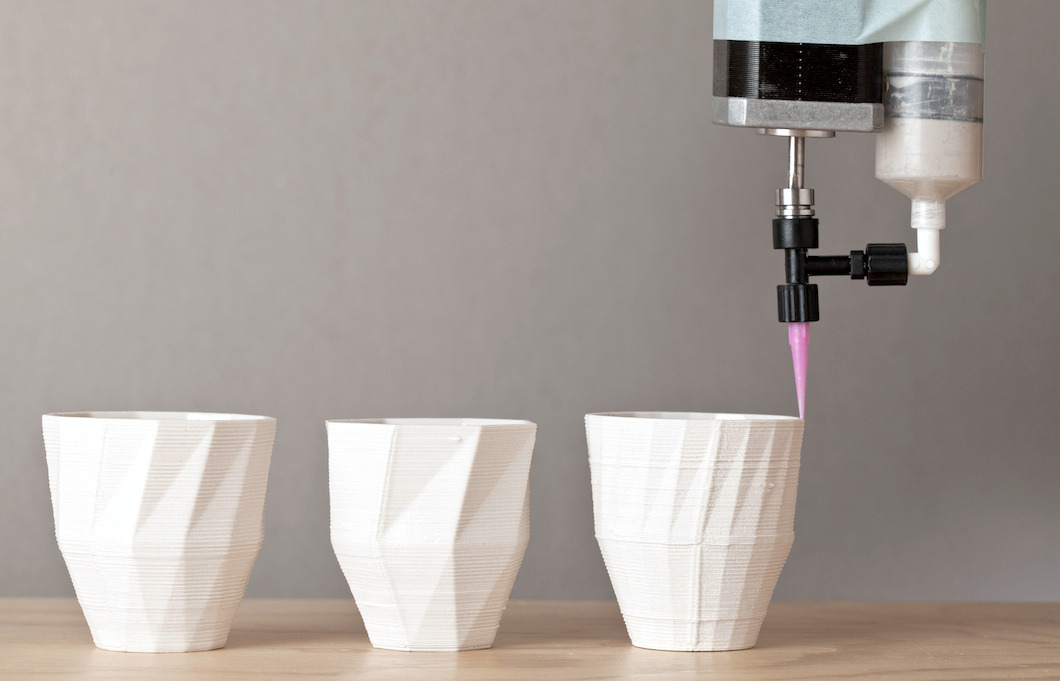 Cups and extruder