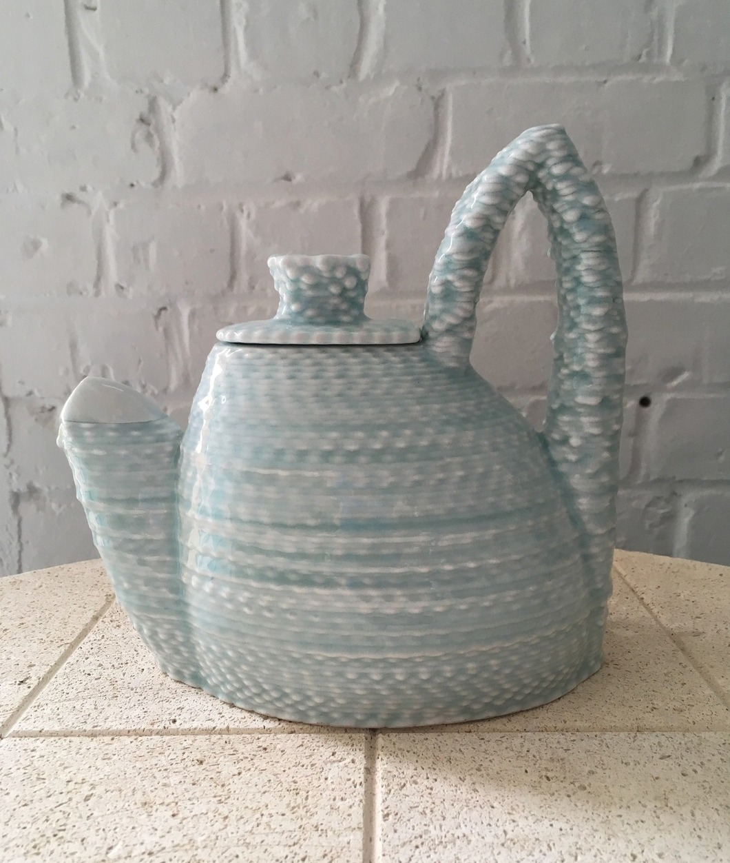 'Weaver' teapot-by Keith Simpson, US