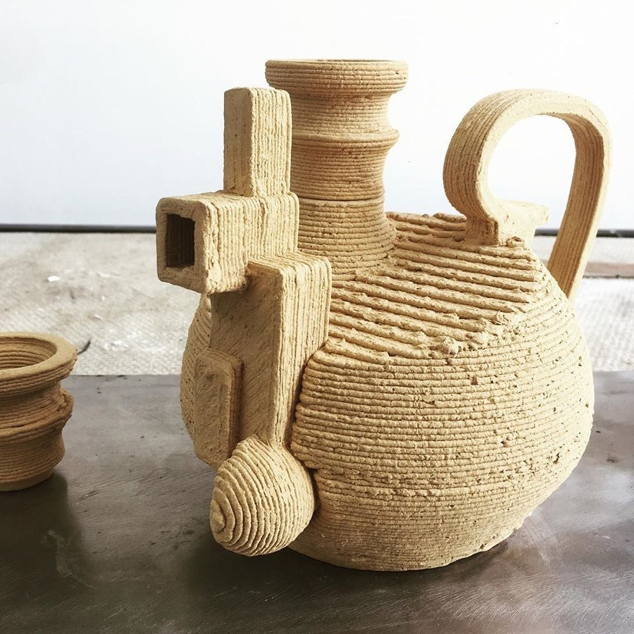 'Clash' teapot by-Bauman, Dover-& Ohaly, IL