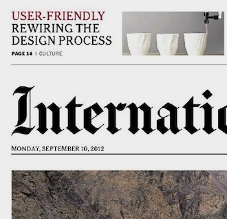 New York Times, IHT - Rewiring the Design Process
